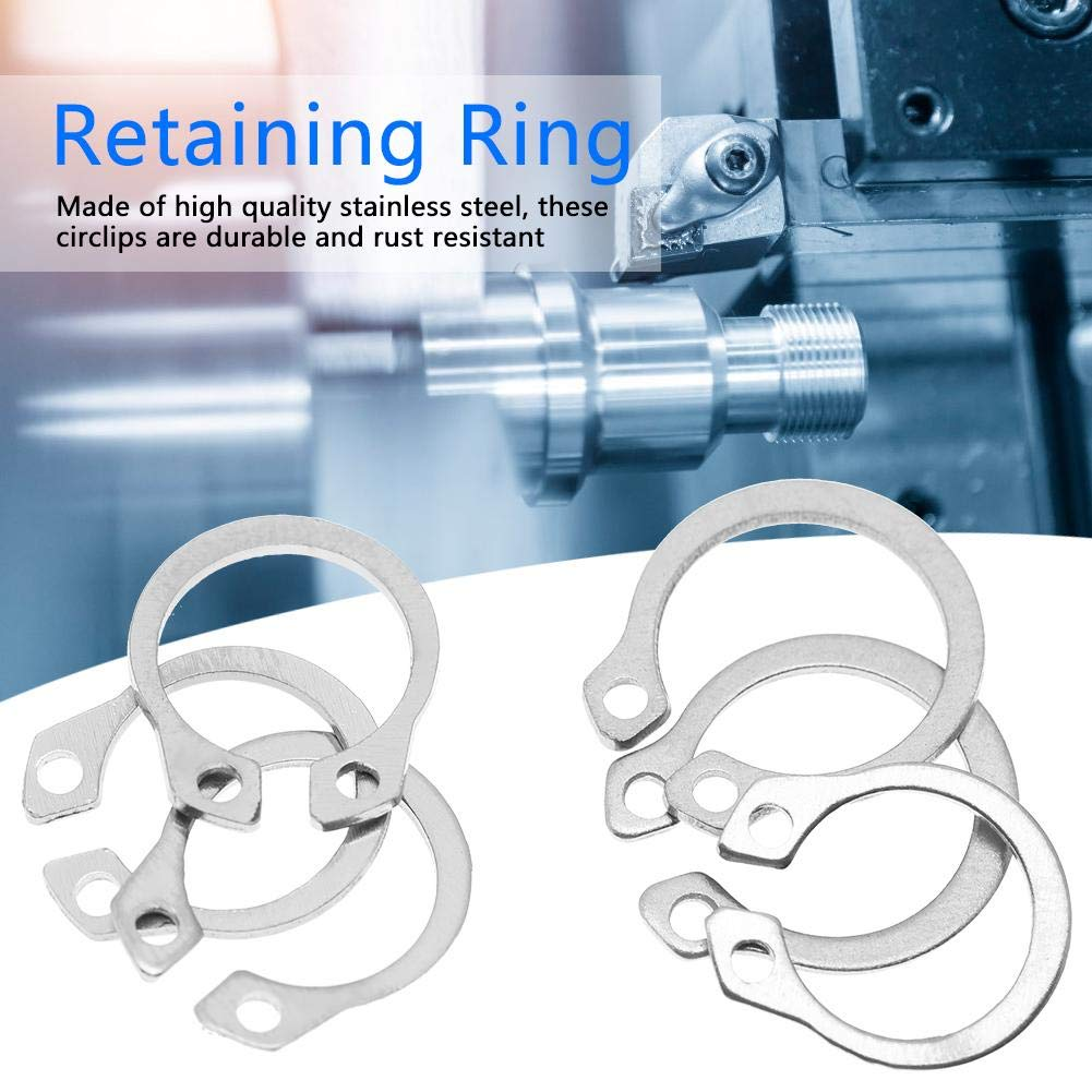 Circlip,120pcs Stainless Steel Snap Retaining Ring Circlip Assortment Set 9mm 14mm with Box