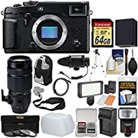 Fujifilm X-Pro2 Wi-Fi Digital Camera Body with 100-400mm Lens + 64GB Card + Backpack + Flash + Video Light + Mic + Battery & Charger Kit