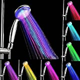 PowerLead Bathroom Showerheads LED Multicolor 7 Colors Water Glow light Shower head