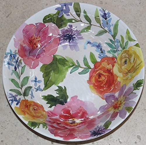 (Nicole Miller Spring Rose Melamine Soup/Cereal/Salad Bowls - Set of 4 - 7-1/2