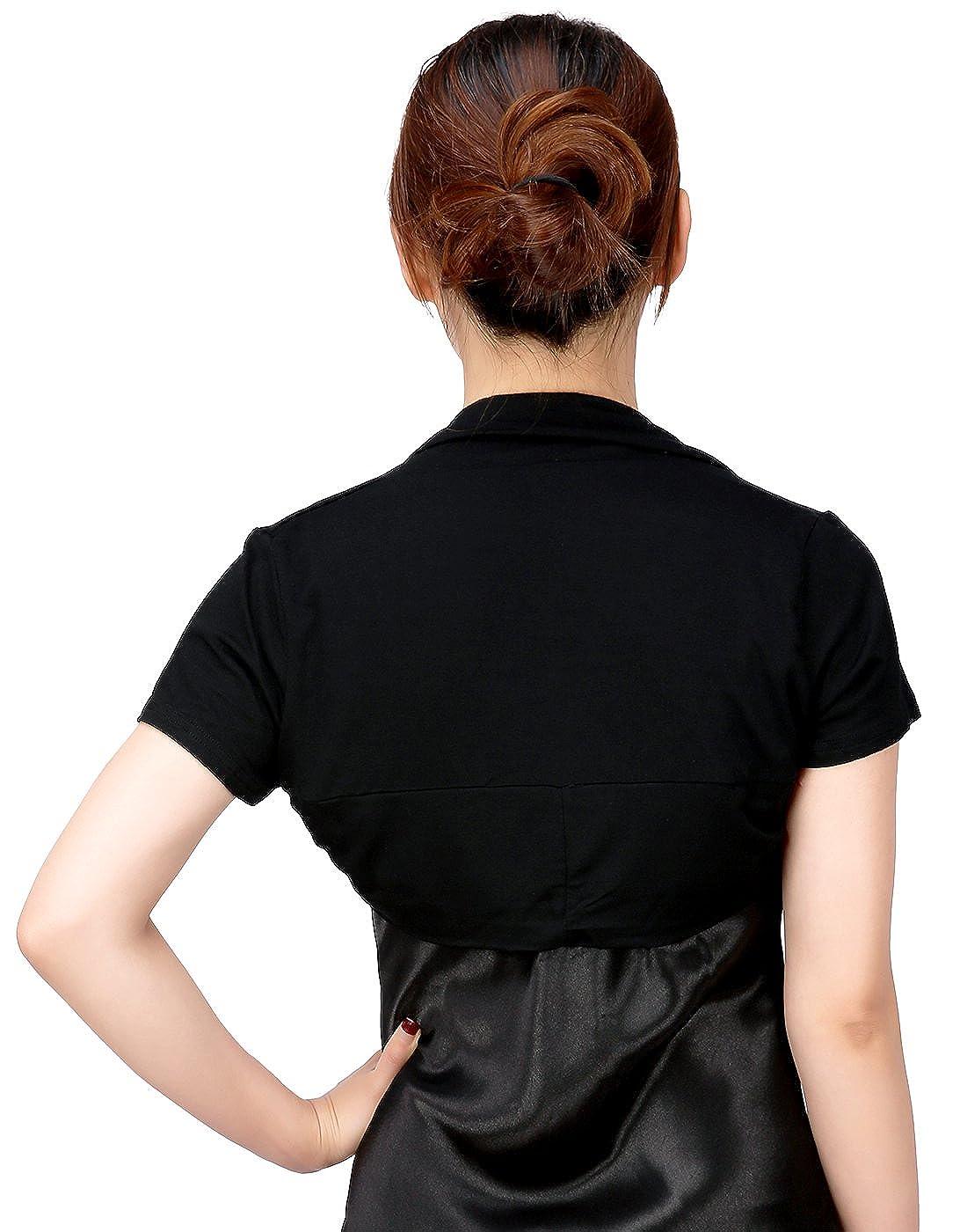 HDE Short Sleeve Bolero Jacket Shrug for Women S-4X Open Front Light Layering
