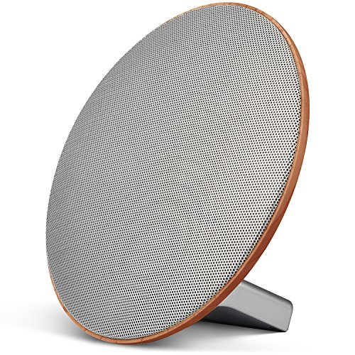 PureWave Wireless Bluetooth Home Speaker - 12W Dual Channel Sound with Clear Sense Audio Technology - Wireless and Rechargeable - Refined Dark Oak Wood Finish - 3 Hours of Play Time by Sierra Modern Home