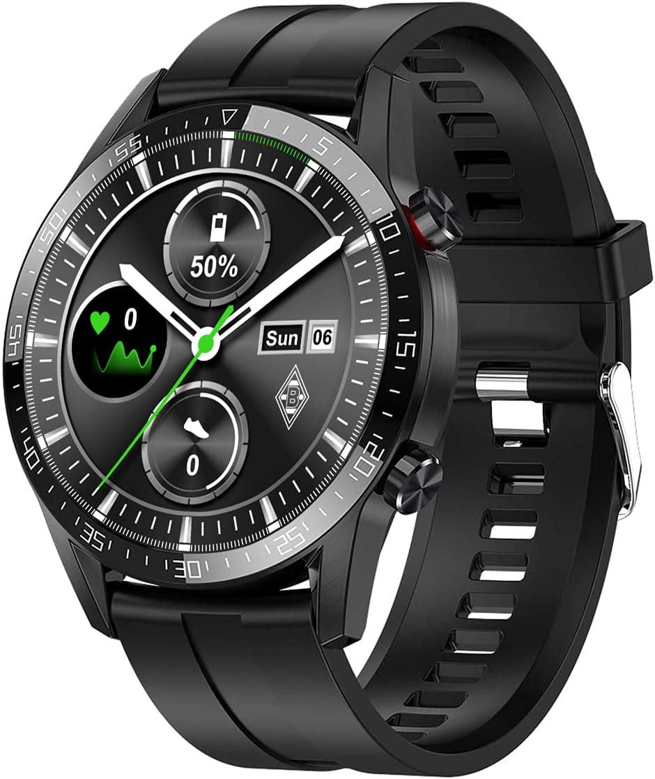 ANMI Smartwatch Herren, Fitness Tracker mit Schrittzähler IP68 Wasserdicht Sportuhr mit Pulsuhr Blutdruckmessgerät Schlafmonitor Herren Armbanduhr für Android iOS (Schwarz)