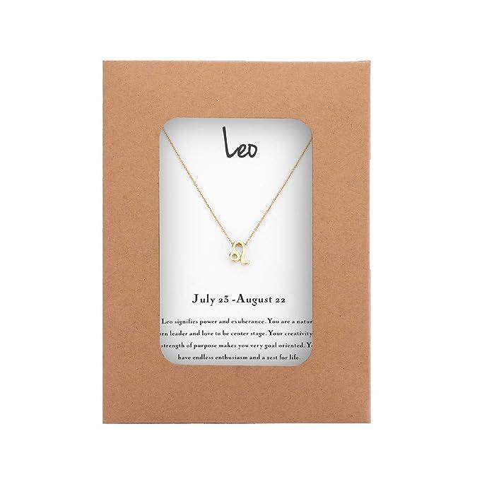 Mocya Zodiac Necklace Women Jewelry Horoscope Constellation Pendant  Astrology Birthday Gifts