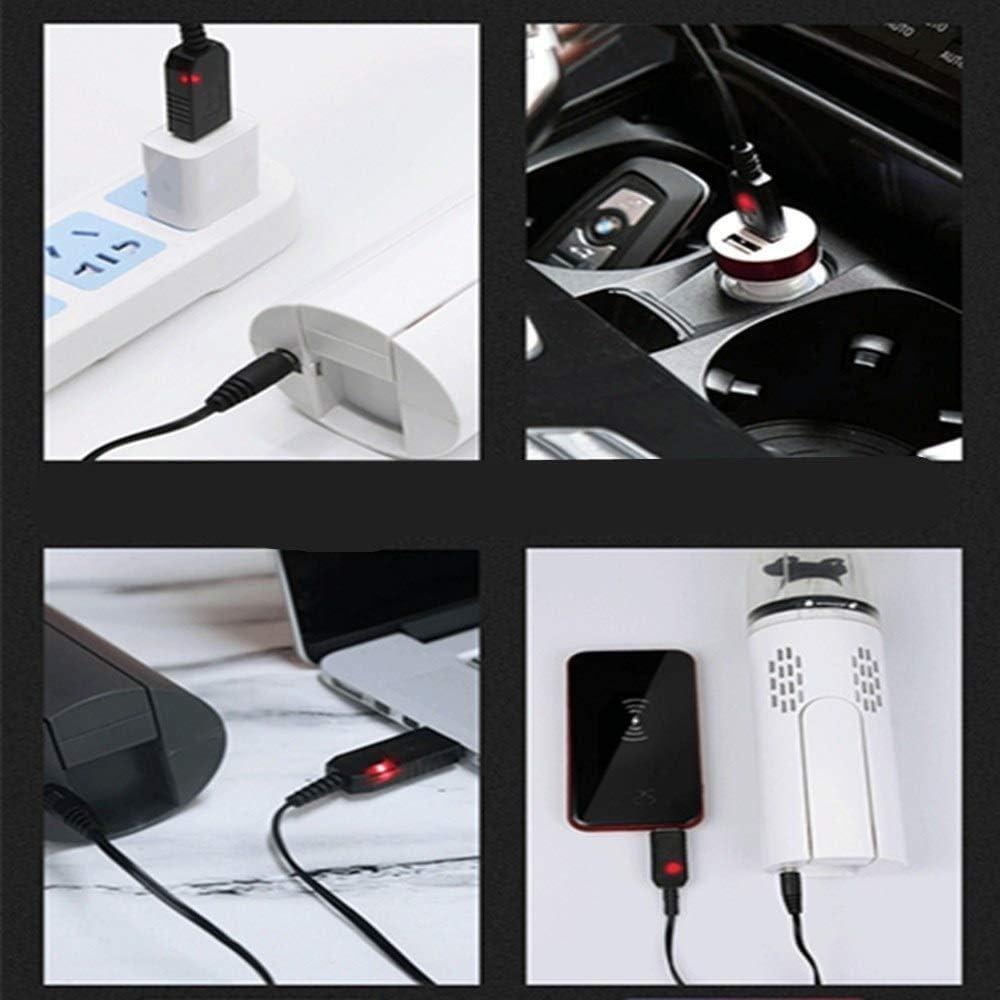 Aspirateur voiture Ordinateur De Poche Pliant Aspirateur Sans Fil Accueil Mini Aspirateur USB Portable Voiture Aspirateur aspirateur sans fil (Color : White) Black