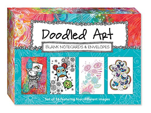 Doodled Art Blank Notecards & Envelopes (Lettering Embroidery Card)