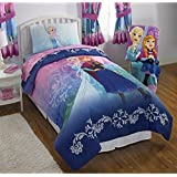 NEW! Disney Frozen Twin Size Nordic Frost Bedding Set Made of 100% Polyester with Reversible Comforter, Flat Sheet...