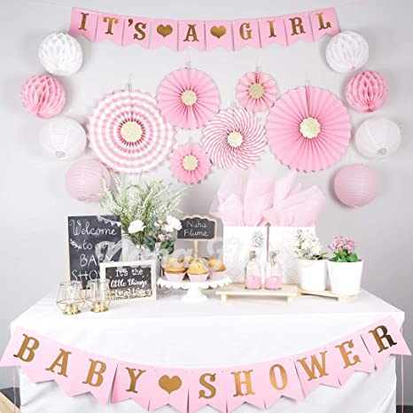 Pink Baby Shower Decorations for Girl