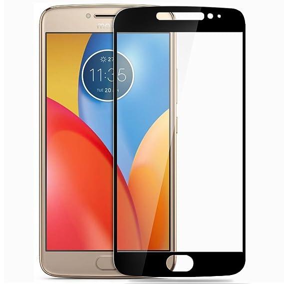 Trifty Motorola Moto E4 Plus Full Coverage Tempered Glass Scretch Proof Screen Protector   Black Screen guards