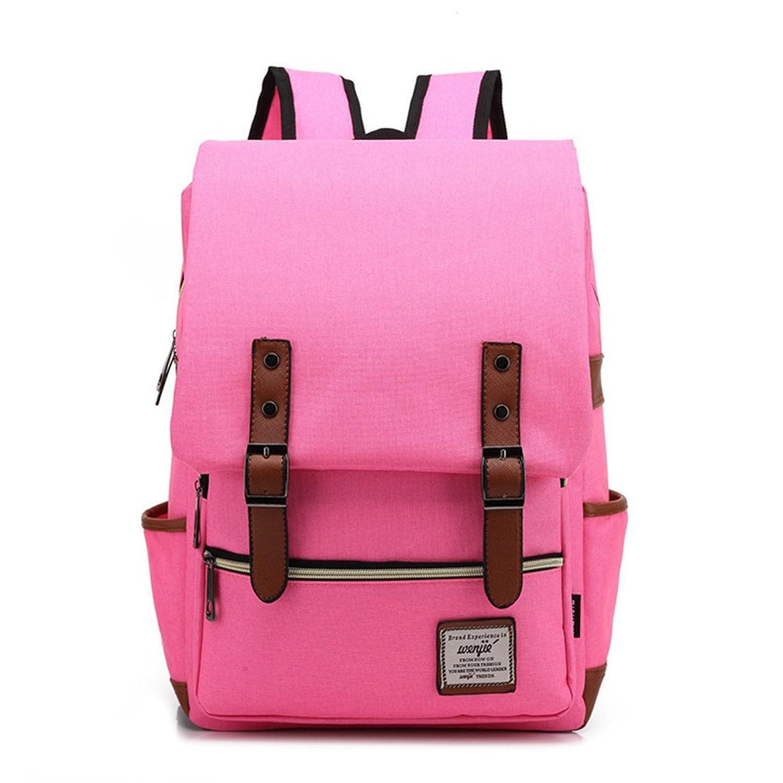 Aimmer Castle Unisex Canvas Laptop Backpack Shoulder Bags For Students