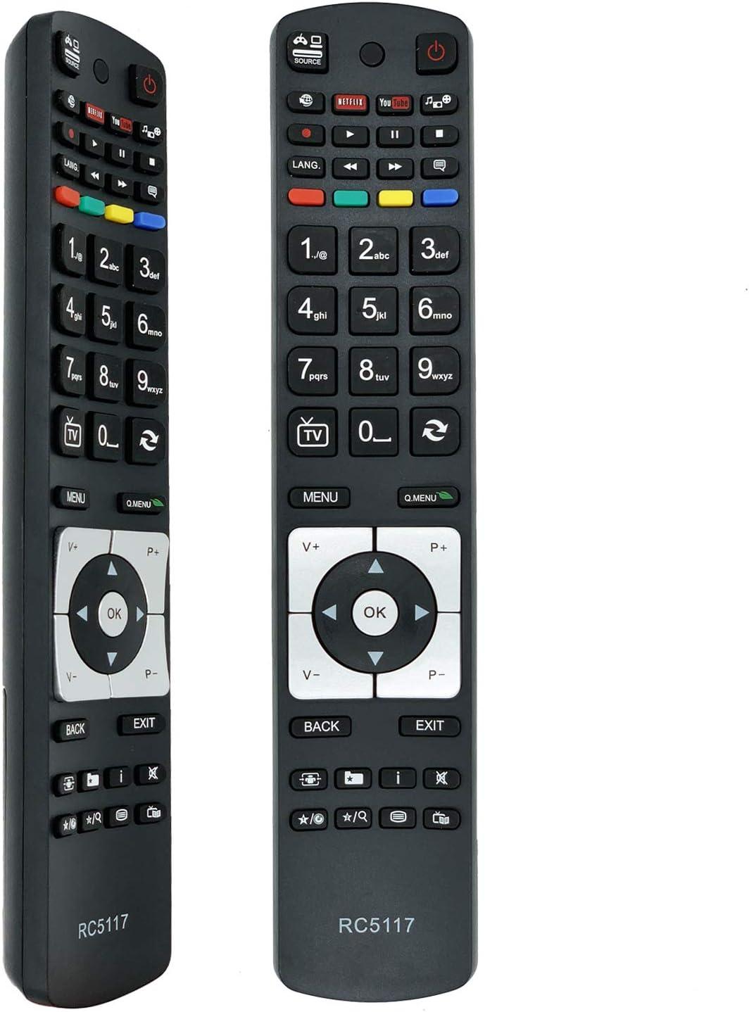 Nuevo Mando a Distancia el Control Remoto del para Hitachi Telefunken TV, No es Necesario configurar un Control Remoto Universal RC5118 RC5117 RC5111: Amazon.es: Electrónica
