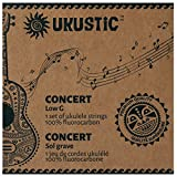 UKUSTIC - Ukulele Strings Concert Low G - 100% Clear Fluorocarbon