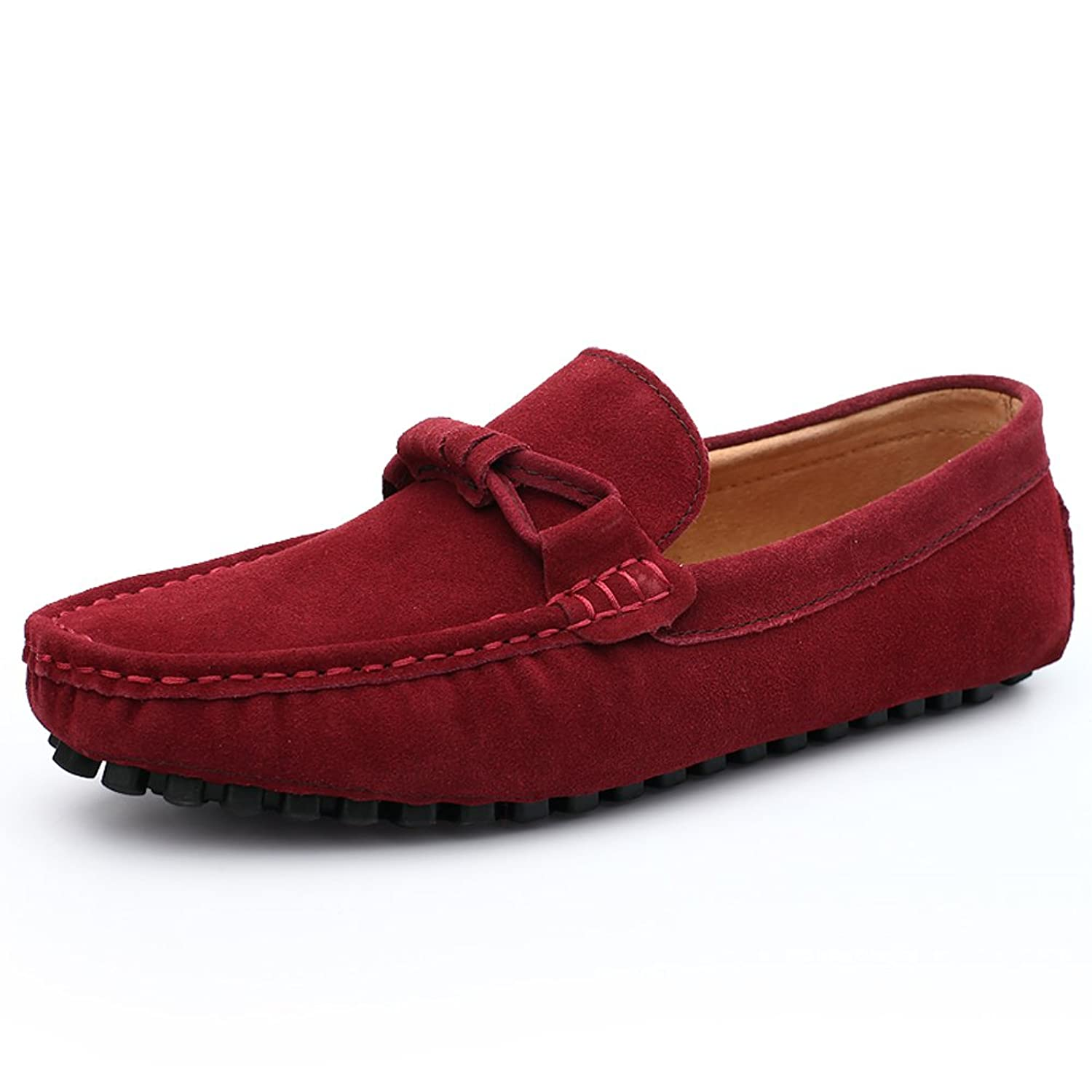 new Lucksender Mens New Summer Cow Leather Fashion Casual Loafer Shoes