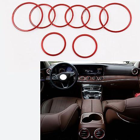 angelguoguo 8 pcs para aire acondicionado de coche salida de aire anillo embellecedor de decoración adhesivo