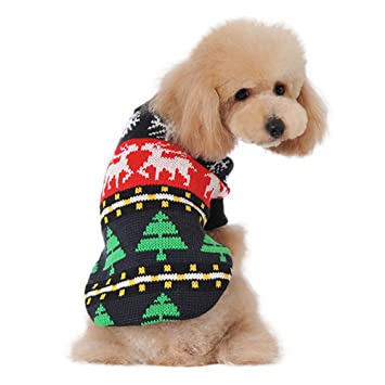 bayro dog christmas sweater apparel classic for large dogs 1575 inch back length - Large Dog Christmas Sweaters