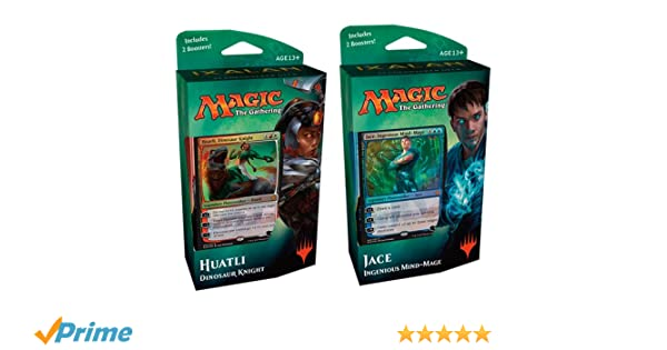 Magic The Gathering MTG-xln-PD-en ixalan Planes Walker Deck Jace o huatli Juego de Cartas coleccionables