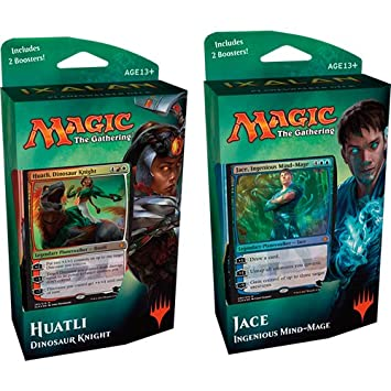 Magic The Gathering MTG-xln-PD-en ixalan Planes Walker Deck Jace o huatli Juego de Cartas coleccionables