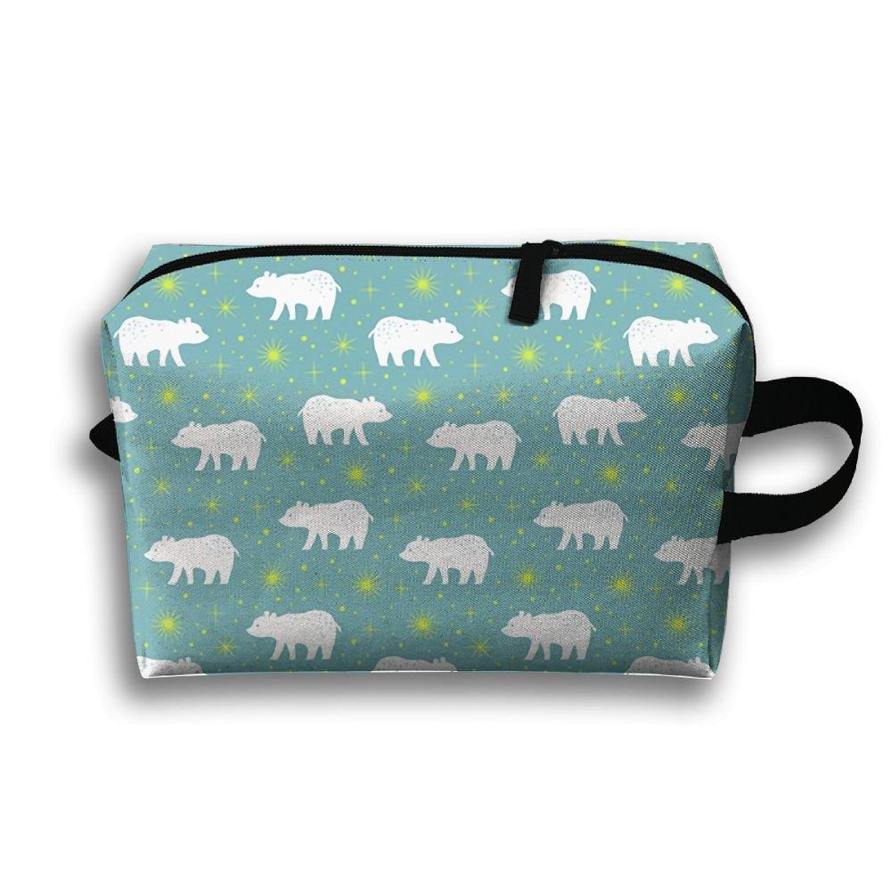 a6228d794ff2 new Polar Bear With Norther Light Stars Makeup Bag Portable Zipper Travel  Toiletries Bag For Women
