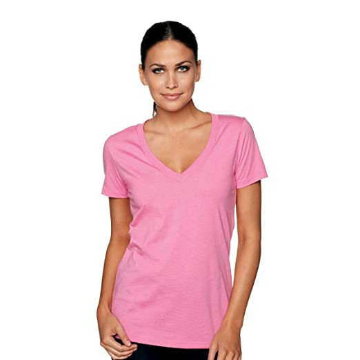 2d1e9ab73ff82 Next Level Apparel Women s CVC Deep V Tee