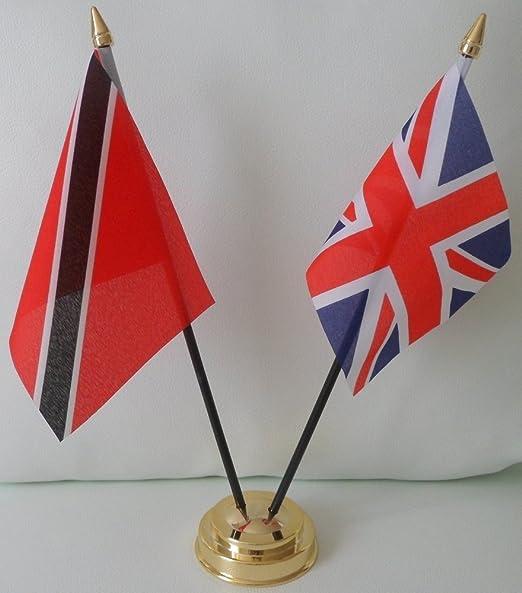 Trinidad y Tobago Bandera de Reino Unido 2 bandera amistad de ...