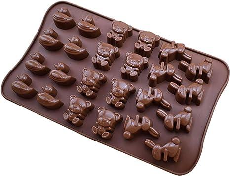 Colorido Desenho Animado Urso Coelho Forma De Chocolate Cubo De