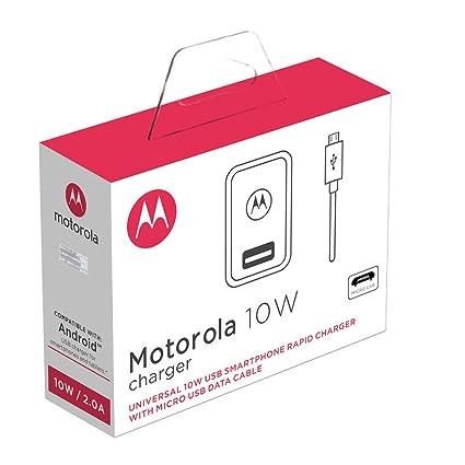 motorola El Cargador Rápido de 10 W Trata del Cargador OEM con Enchufe Europeo Que Viene en la Caja con el Moto G5.