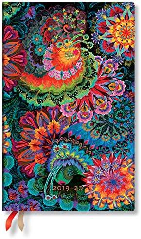 Paperblanks Olenas Garten Mondlicht Kalender 18 Monate 2020 Maxi Wochen/überblick Vertikal Flexi Softcover Einband deutschsprachige Ausgabe