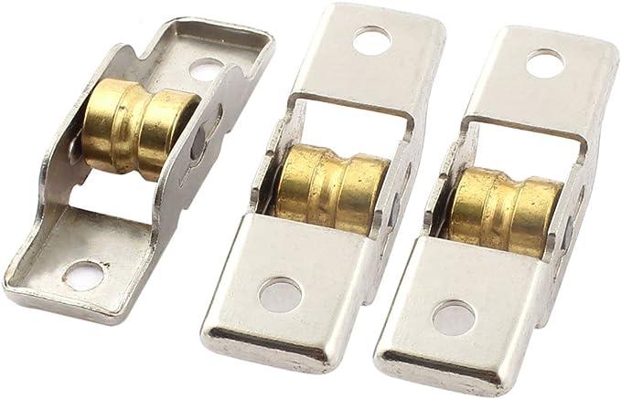 sourcingmap® Armario de puerta corredera Ventana de guillotina de la rueda de polea 11,5mm único Barraillo 3pcs: Amazon.es: Bricolaje y herramientas