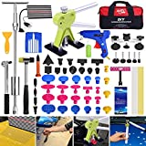 Super PDR 68Pcs Car Auto Body Paintless Dent Repair Tool Kits For Car Hail Damage And Door Dings Repair LED Dent Puller Set Glue Gun Rubber Slide Hammer With bag