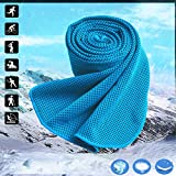 My9colors Cooling Towel,Stay Cool with 40''×12'' Microfiber Towel,Keep Cool with Chilly Towel for Running、Biking、Fitness、Yoga、Fishing、Hunting、Golf&More sports