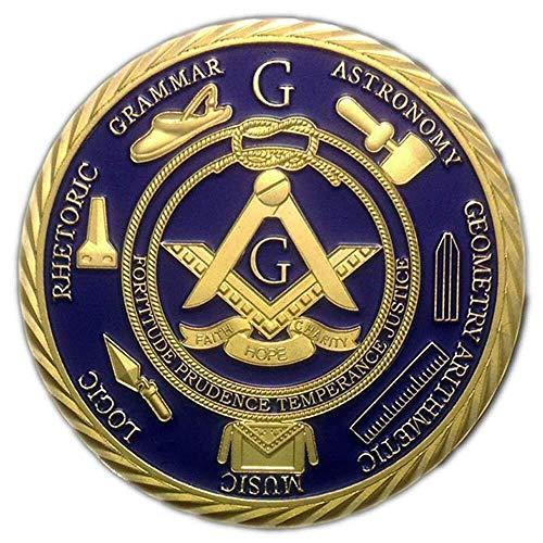 1 OZ Freemason Coins 24K Gold Coated by AtSKnSK...