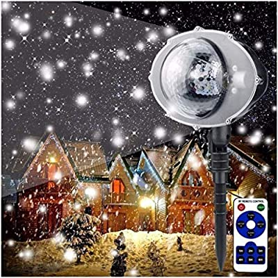 WDWL Copo De Nieve De Navidad, Las Luces Del Proyector LED Del ...