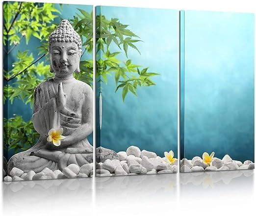 Large Modern Home Decor Canvas Print Painting Wall Art Buddha Statue Meditation