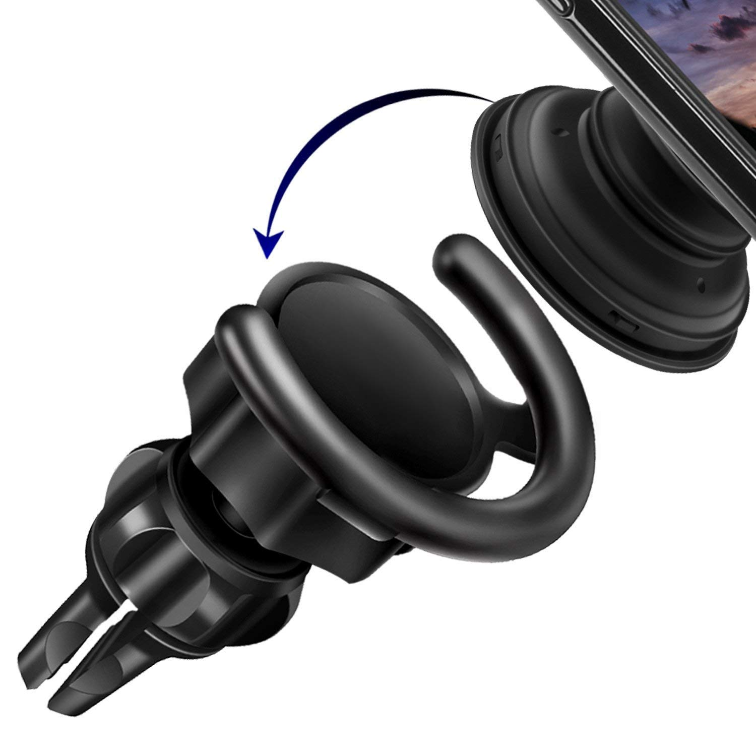 Car Mount Compatible with Stand Socket, 360° Rotation Car Dashboard Desk Wall and Air Vent Mount for sockets Expanding Grip Stand Users Easier Holder Phone Or Navigation and Calling(Upgrade) Airror