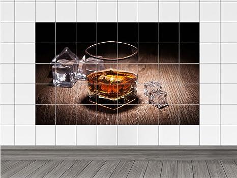 Tavolo in legno piastrelle adesivo per piastrelle bevanda whisky