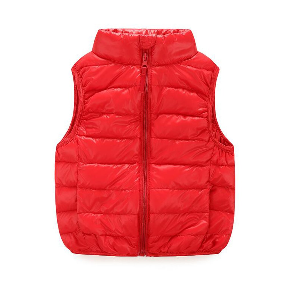 Meijunter Little Kids Sleeveless Colorful Outerwear Puffer Down Jabket Vest Coat