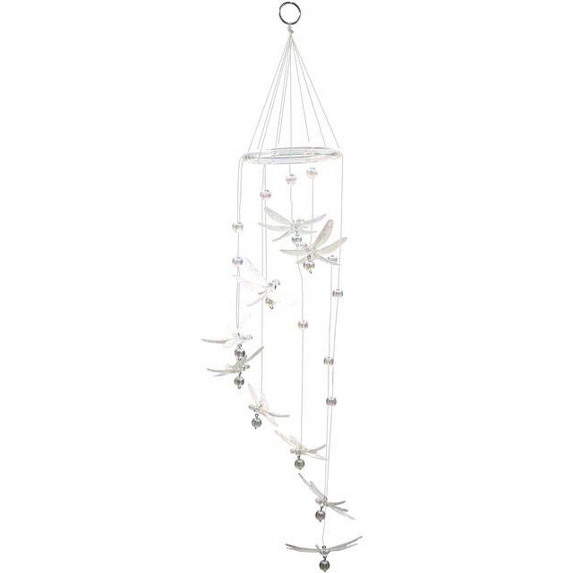 Something Different Acrylic Dragonfly Mobile (One Size) (White)