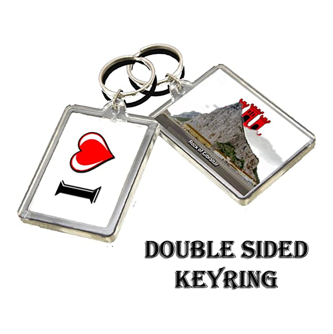 CALENDARSFORLOVE 0202 ROCK OF GIBRALTAR KEYRING I HEART ...