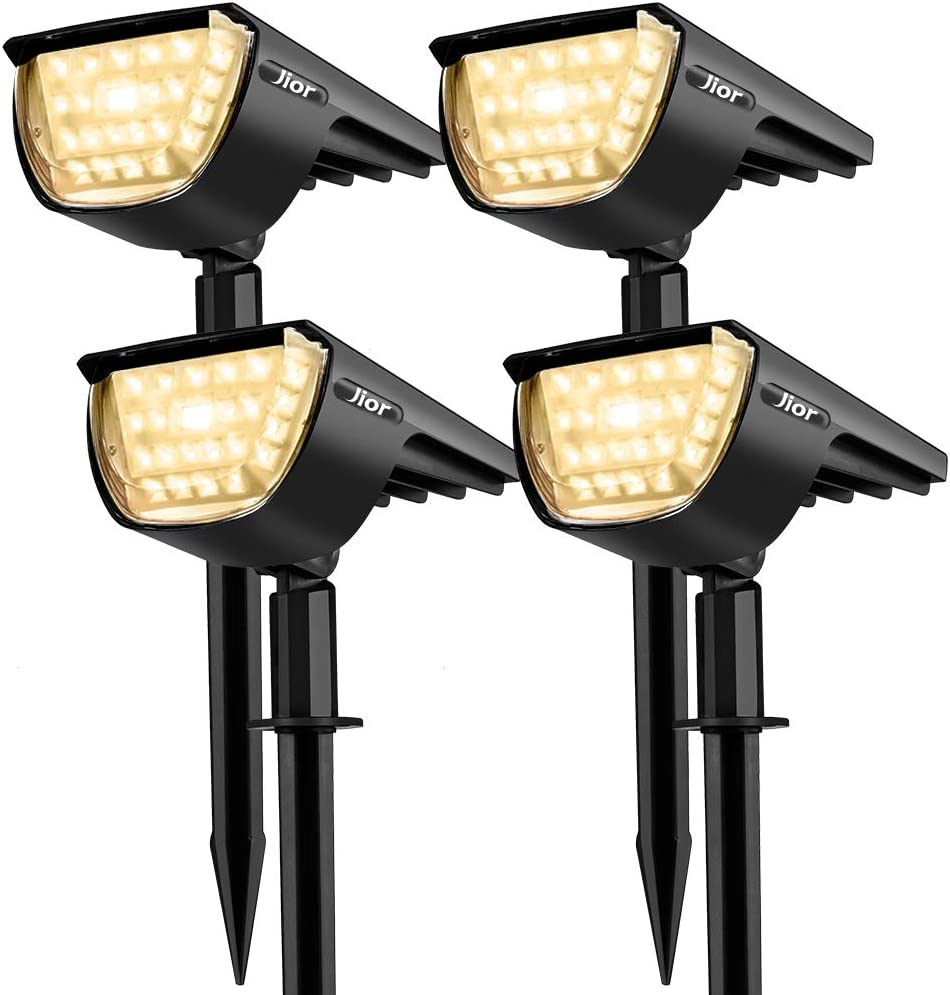 Alberi Vialetto Luci Solari da Esterno Cortile Patio Faretti Solari da Giardino Jior 32 LED Impermeable IP65 Illuminazione Giardino Solare 2-in-1 con 3 Livelli di Luminosit/à per Piscina