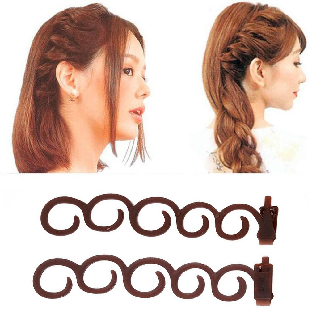 HENGSONG Fashion Hair Braiding Tool DIY Magic Hair Twist Styling Accessories (Coffee) mei_mei9