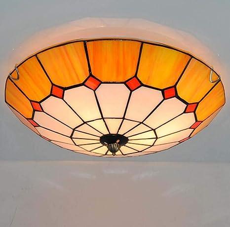 Tiffany Style - Lámpara empotrada en el techo para montaje ...