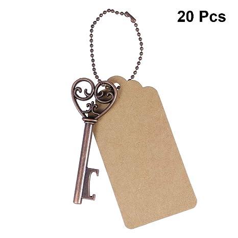 BESTOYARD 20pcs Vintage Key abrebotellas Llavero Vino ...