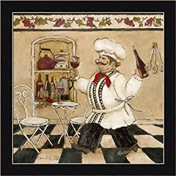 Top Chef Ii By Charlene Olson Italian Chef Kitchen Decor Framed Art Print Picture Wall Decor
