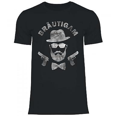 Royal Shirt A40 Herren T Shirt Brautigam Gangster Pistolen Hipster