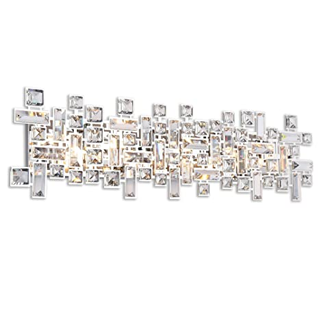 Paradigm 8 Light Bathroom Vanity Lights in Polished Chrome ...
