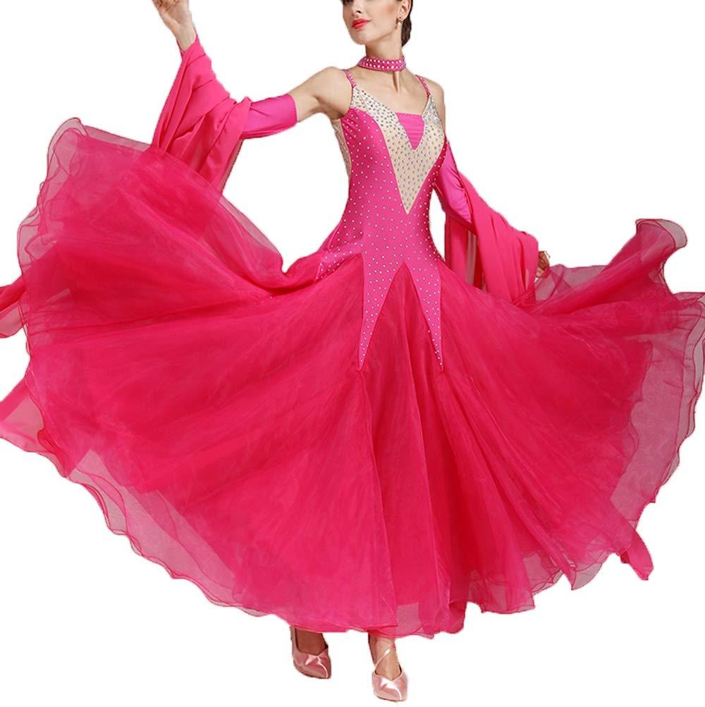 Wangmei Ballsaaltanz Kleider Moderne Performance Kostüme für Damen Walzer Tango Glattes Kleid Wettbewerb Tanzbekleidung B07MBTRBTL Bekleidung Allgemeines Produkt