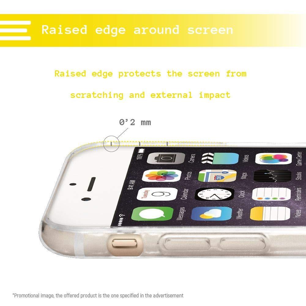 Gel Silicona Flexible, Dise/ño Exclusivo Funnytech/® Funda Silicona para iPhone 8 Plus Ilustraci/ón Pizza Time Fondo Transparente