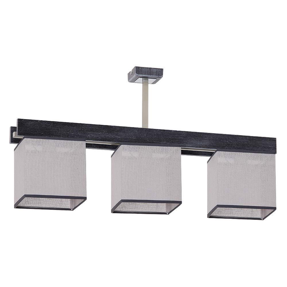 Elegante lámpara de techo en Negro Gris Estilo Bauhaus E27 hasta 60 W 230 V gewebten plástico & Metal Cocina Comedor lámpara Leuchten iluminación interior, 2 luces 230.00 volts: Amazon.es: Iluminación