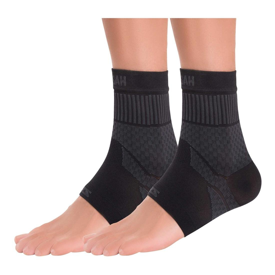 Zensah Ankle Support - Compression Ankle Brace - Great for Running, Soccer, Volleyball, Sports - Ankle Sleeve Helps Sprains, Tendonitis, Pain, Black, Small, Pair