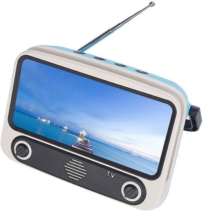 Twocc-Altavoz Bluetooth, Mini Altavoz De Radio PortáTil Fm, Altavoz Bluetooth De Tv Retro, Soporte Para TeléFono MóVil, Tarjeta De Radio: Amazon.es: Bricolaje y herramientas